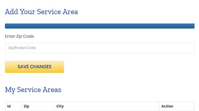 Service Area add